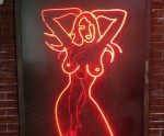 Neon Sign From the Lusty Lady
