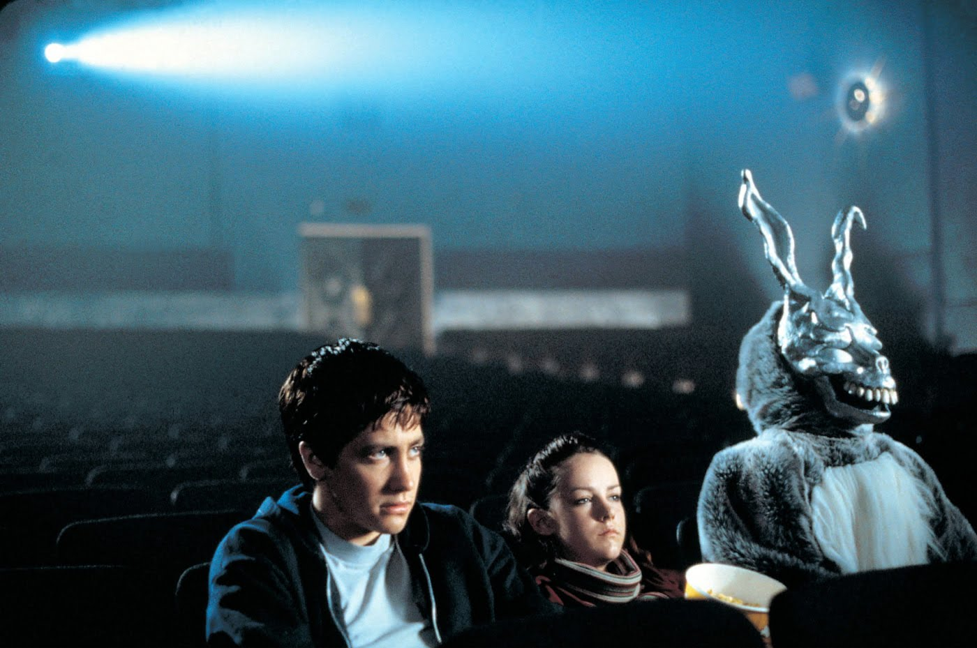 Donnie Darko and Frank the Bunny in the Theater