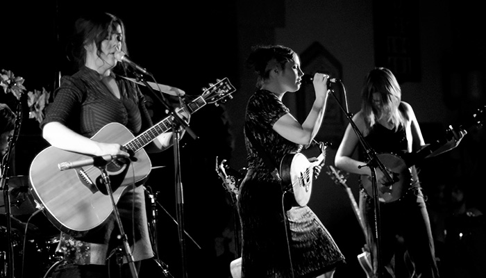"The ""Be Good Tanyas"" (originally from Vancouver, BC) performing at Knox United Church in Calgary, Alberta on December 7th, 2006. They have previously played in Calgary at the Folk Fest and are much loved all over Canada, especially in Guelph. ; )"